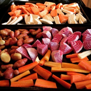 Mmm... Roasted veggies coming.