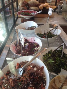 Salad selection at Our Daily Brett