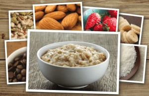 Good Earth Oatmeal and mmm toppings
