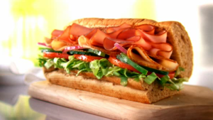 Footlong Turkey & Ham Sandwich (with cheddar and mustard) - 2,080 mg sodium