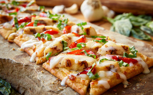 Olive Garden Grilled Chicken Flatbread - 2,110 mg sodium