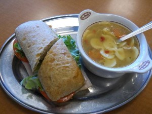 Tim Hortons Turkey Bacon Club Sandwich with Classic Chicken Noodle Soup - 1,910 mg sodium