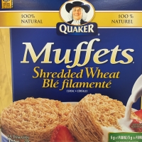 Healthy cereal: Quaker Muffets Shredded Wheat