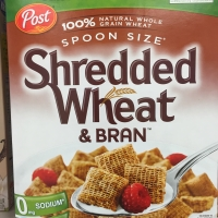 Healthy cereal: Post Spoon-Size Shredded Wheat & Bran