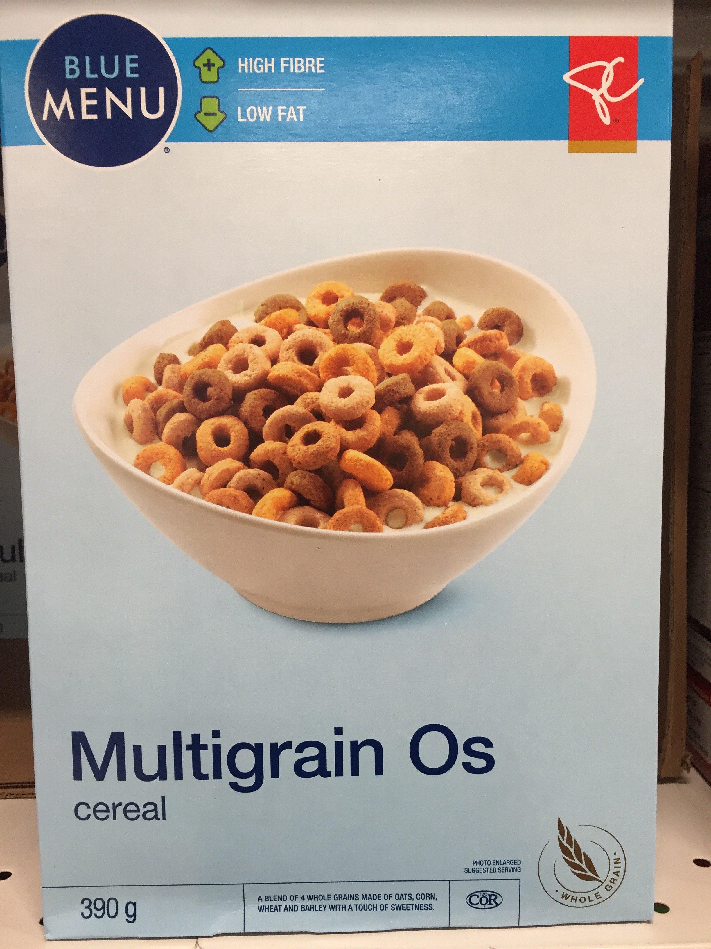 Healthy cereal: Blue Menu Multigrain O's