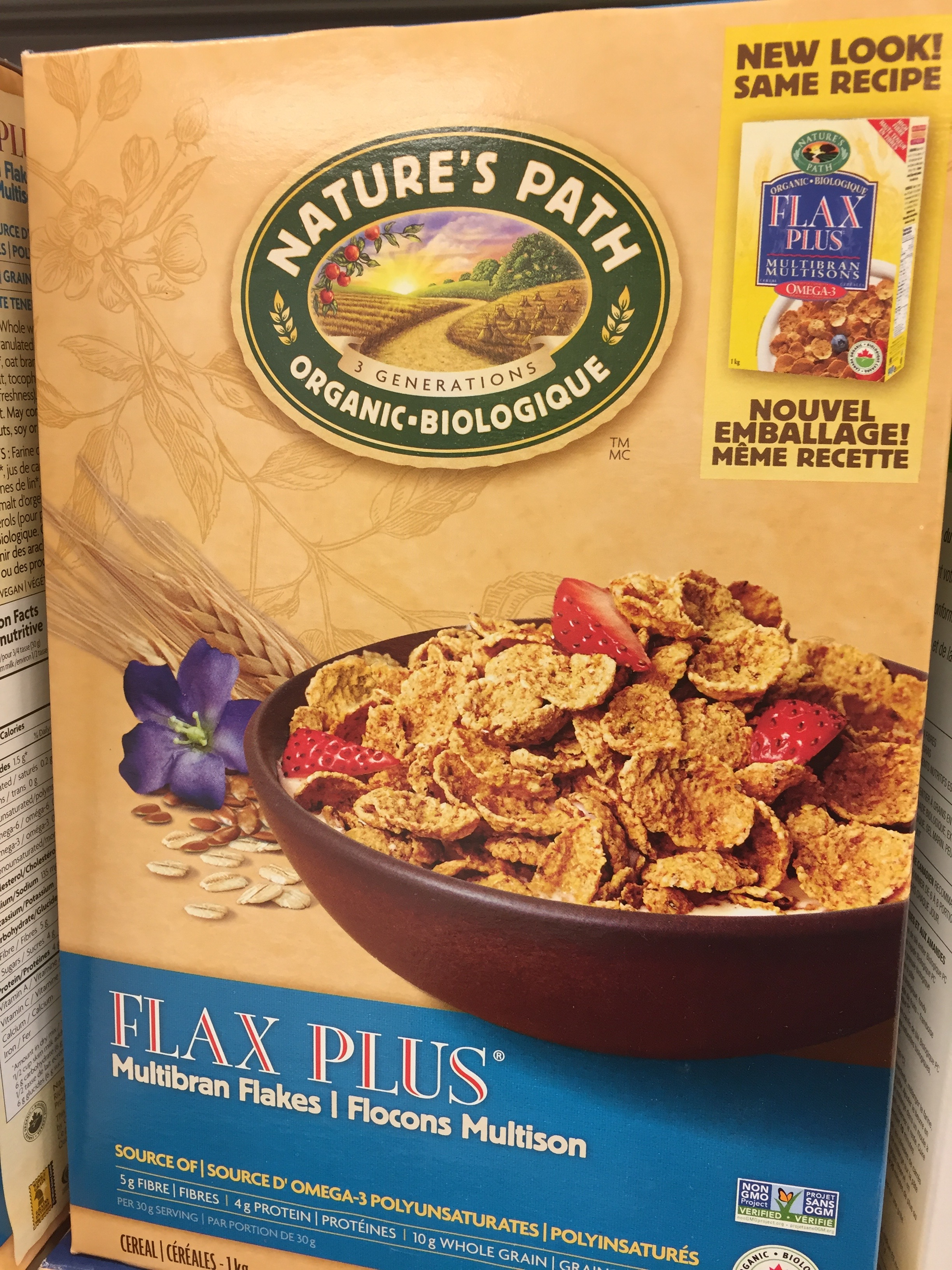 Healthy cereal: Nature's Path Flax Plus