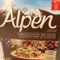 Healthy cereal: Alpen Muesli Dark Chocolate