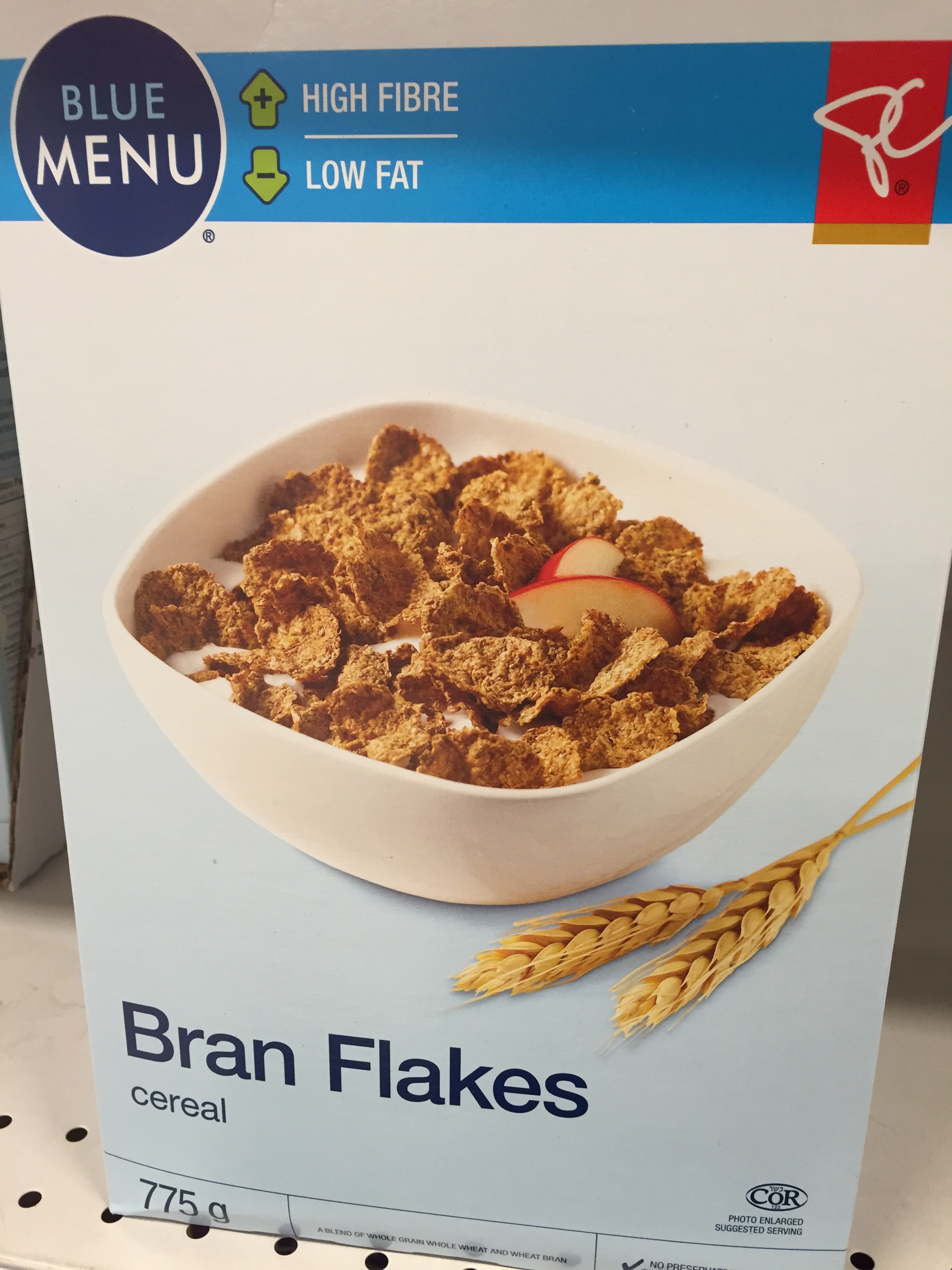 Healthy cereal: Blue Menu Bran Flakes
