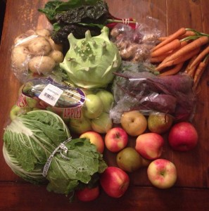 October CSA delivery (half-share).