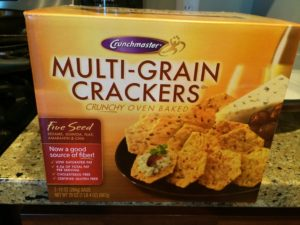 Crunchmaster whole-grain crackers at Costco