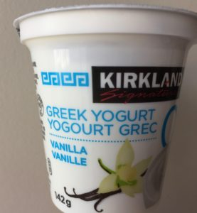 Greek vanilla yogurt