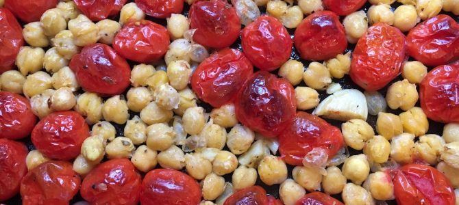 Roasted Cherry Tomatoes & Chickpeas