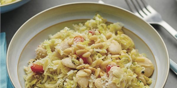 Recipe: Leek, Butter Bean, and Parmesan Orzo