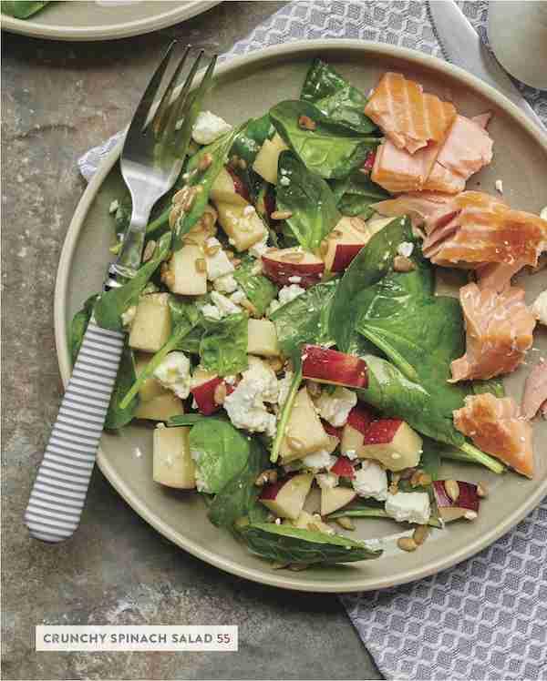 salad with side salmon