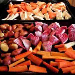 Mmm... Roasted veggies coming.