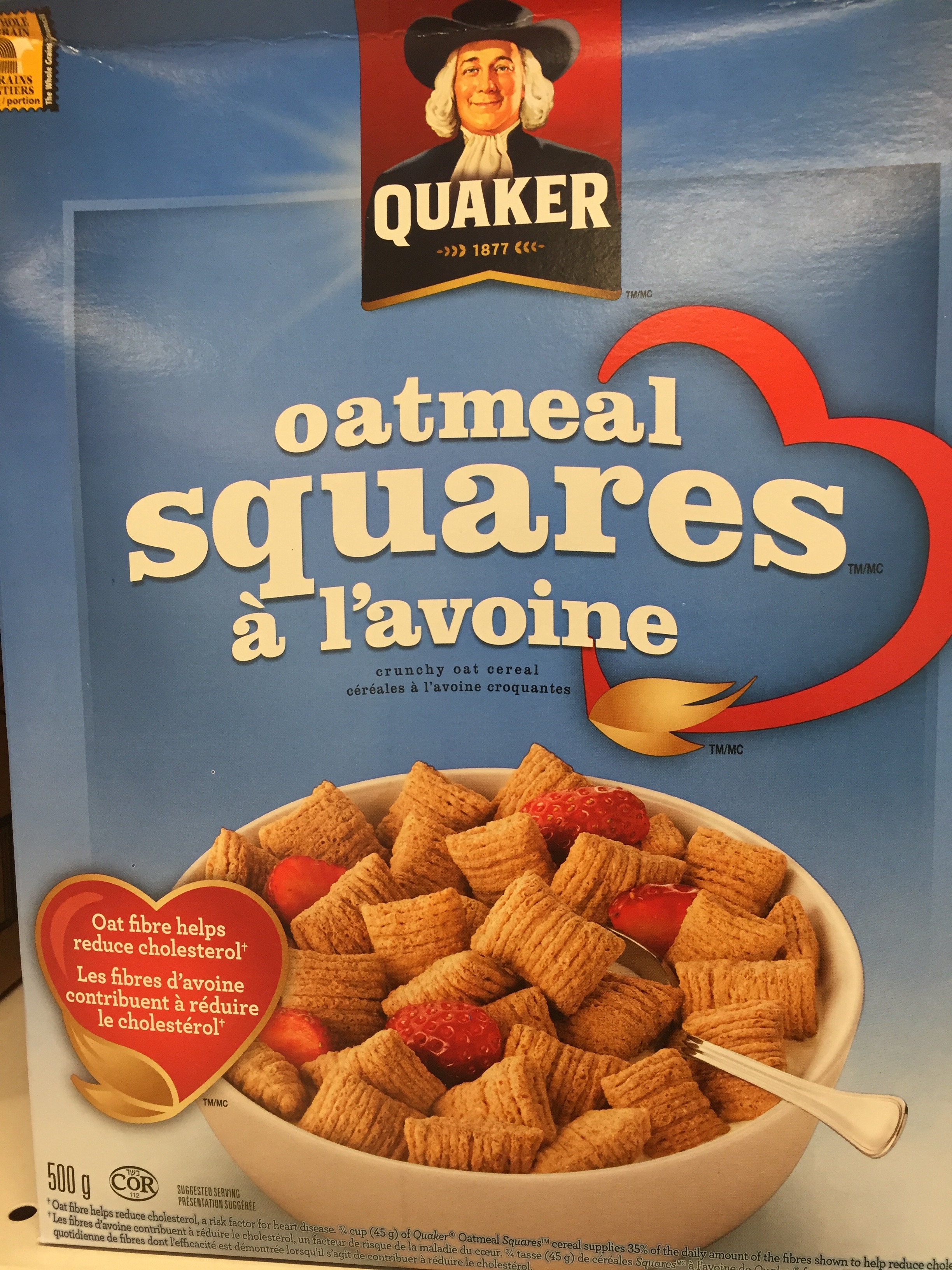 Healthy cereal: Quaker Oatmeal Squares