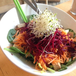 Another tofu-containing bowl from Communitea in Canmore