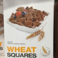 Healthy cereal: Presidents Choice Wheat Squares