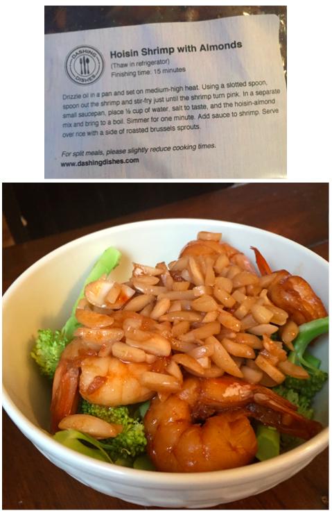 Dashing Dishes Hoisin Shrimp with Almonds.