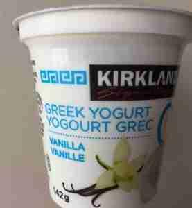 Greek vanilla yogurt