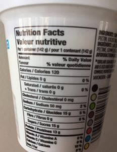 Nutrition for Greek vanilla yogurt