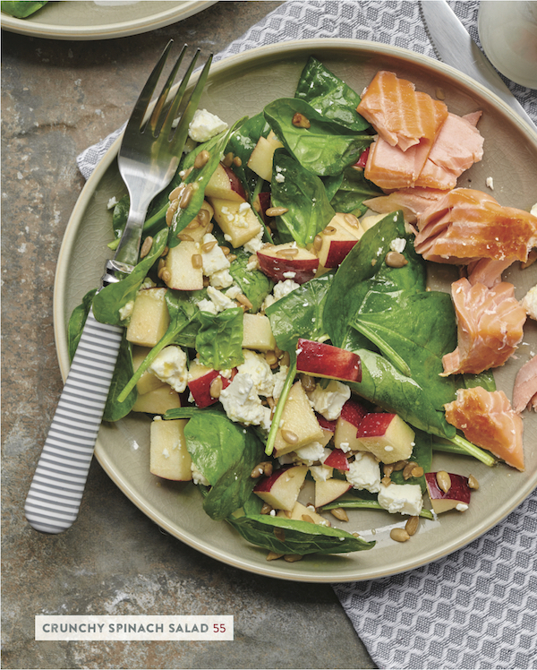 salad with side salmon