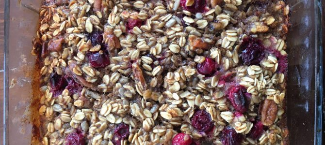 Cranberry Pecan Baked Oats